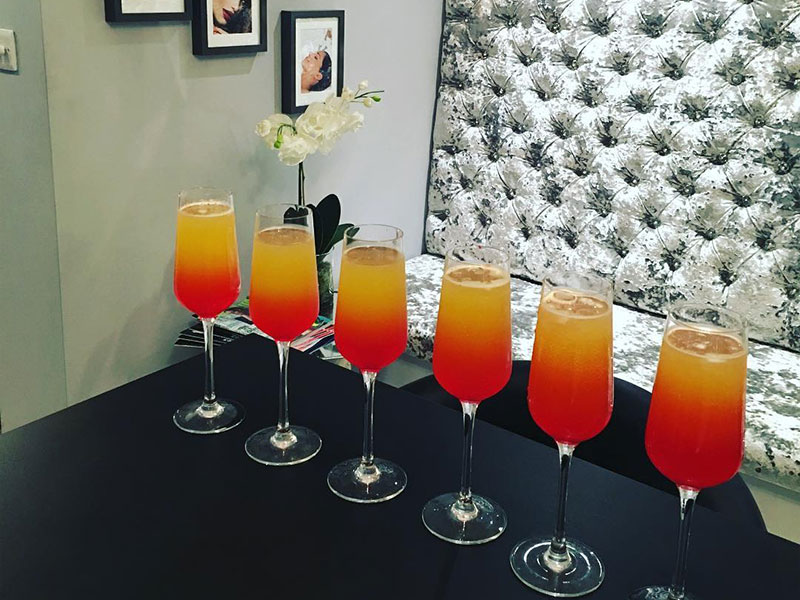Cocktails at Nail & Body Boutique